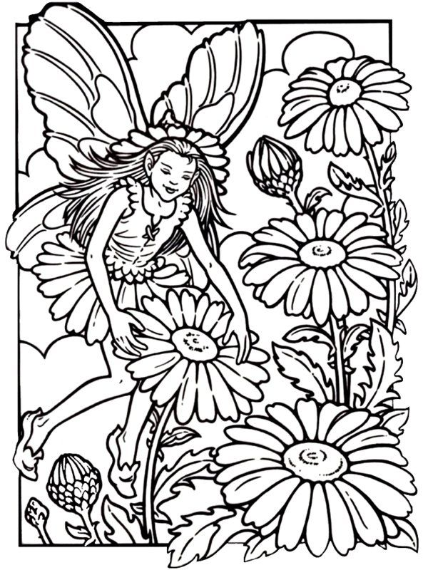 Fairies Coloring Pages Picture 4 – Beauty Fairies Coloring Pages ...