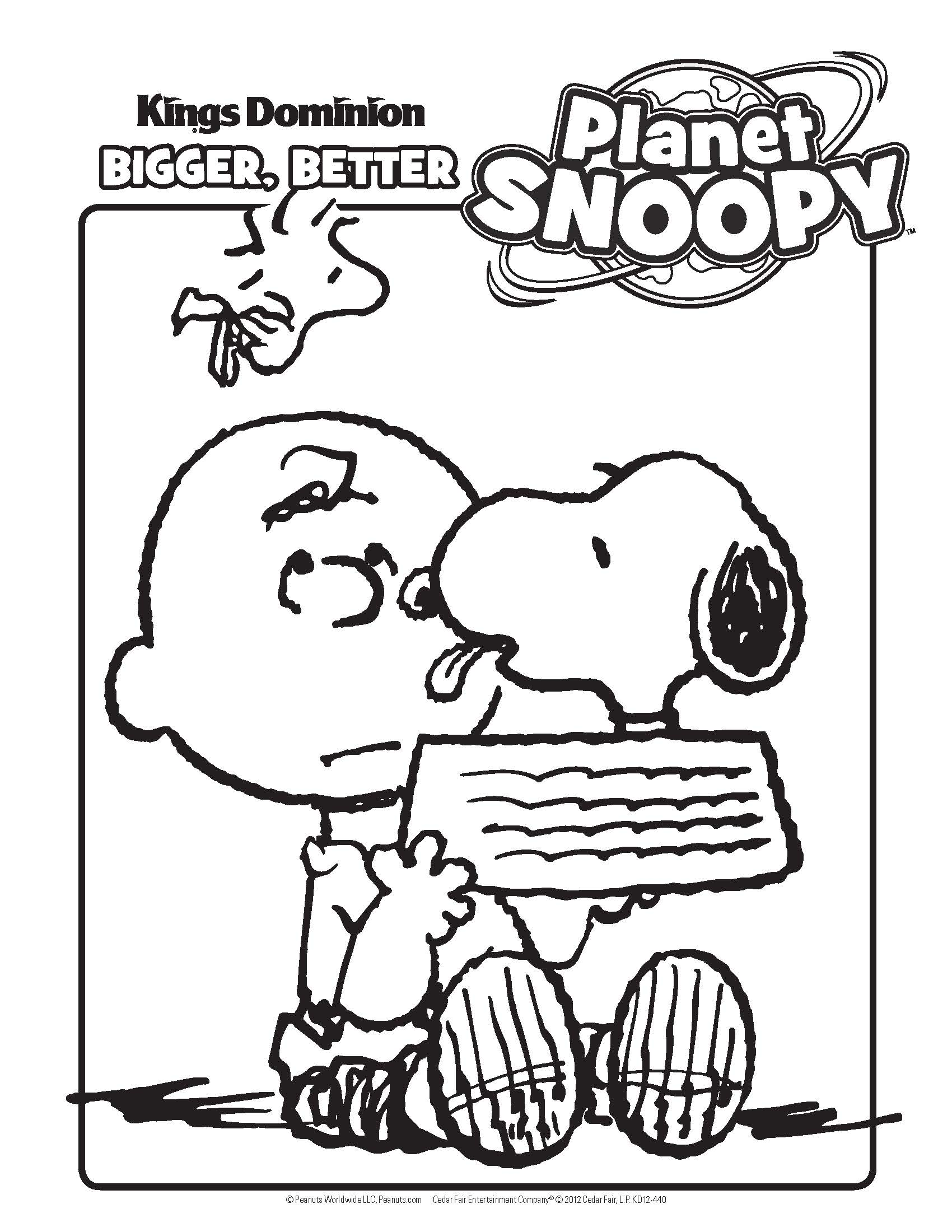 Woodstock Snoopy Coloring Pages