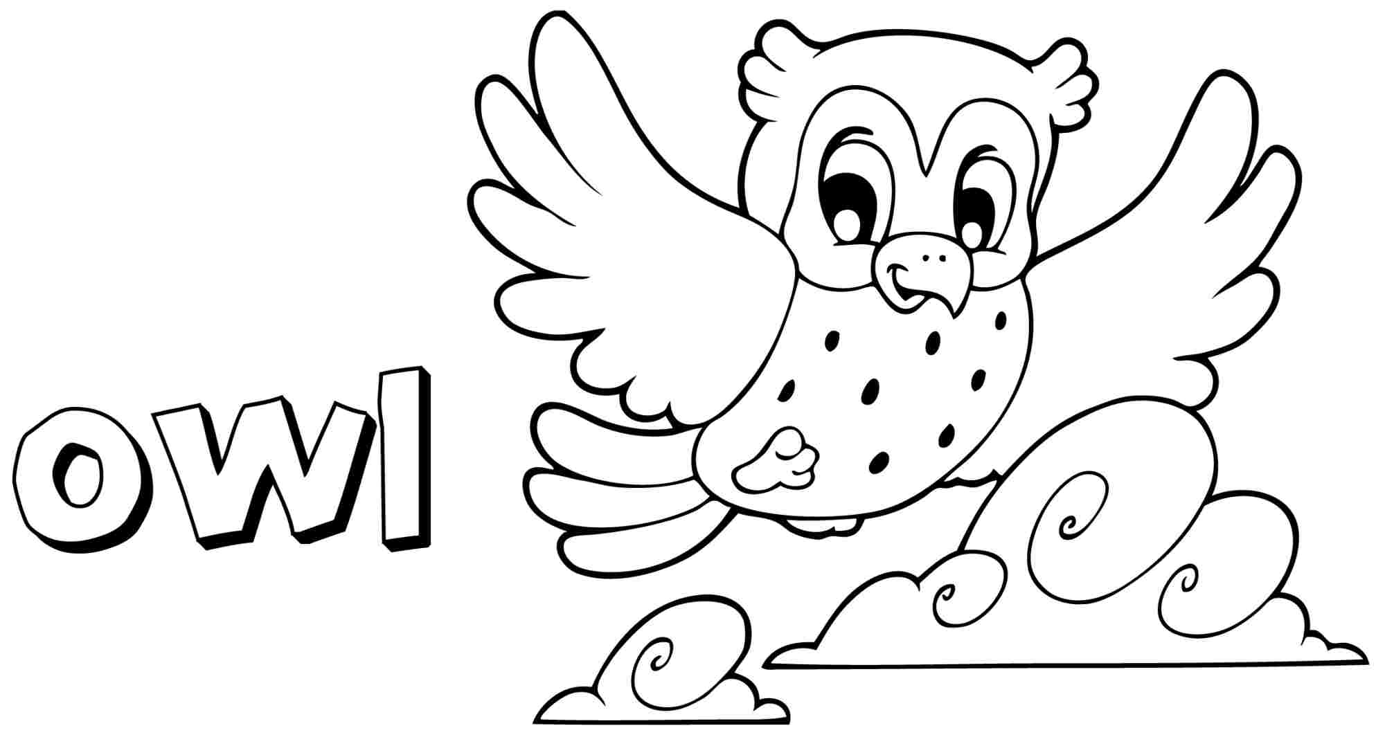 owls coloring pages preschool | Free Owl Preschool Coloring Pages - Coloring Home