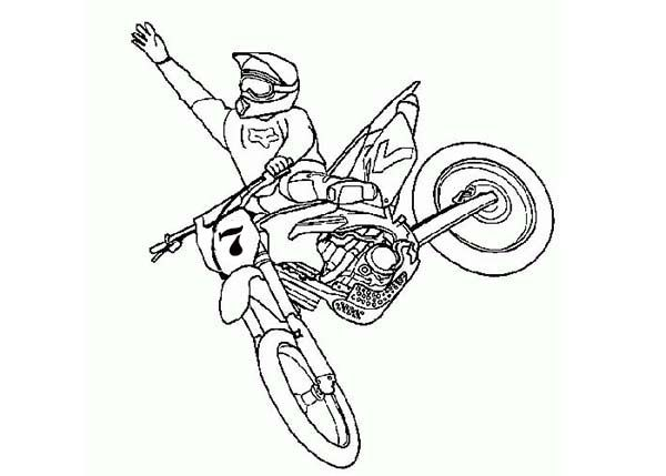 Dirt Bike Colouring Pages To Print - Coloring Pages For Kids ...