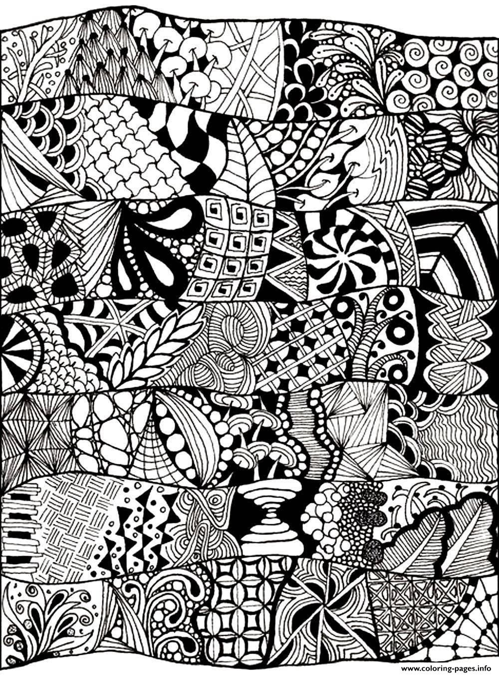 Print adult zen anti stress abstract to print Coloring pages