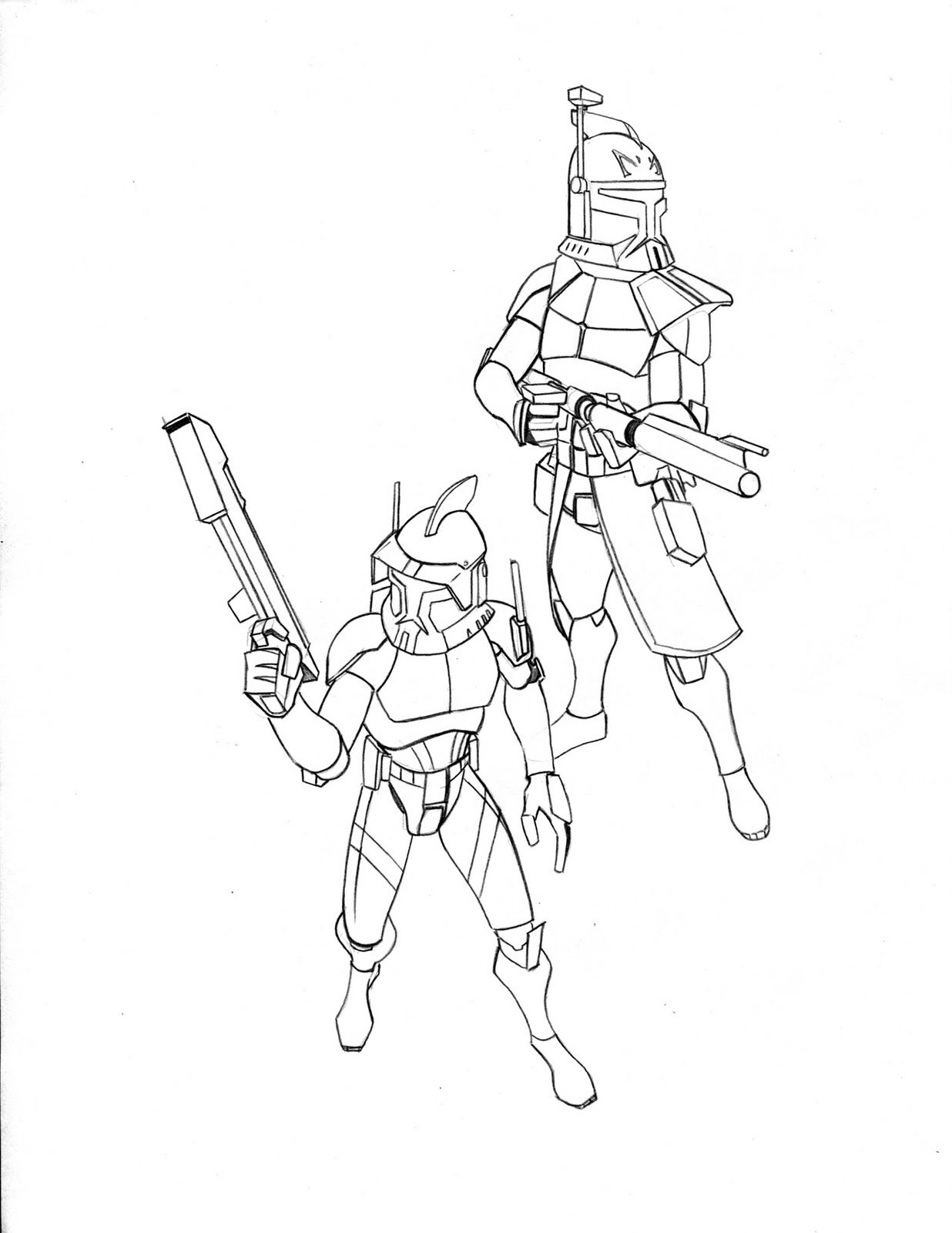 Captain Rex And Commander Cody Coloring Pages - Coloring Pages For ...