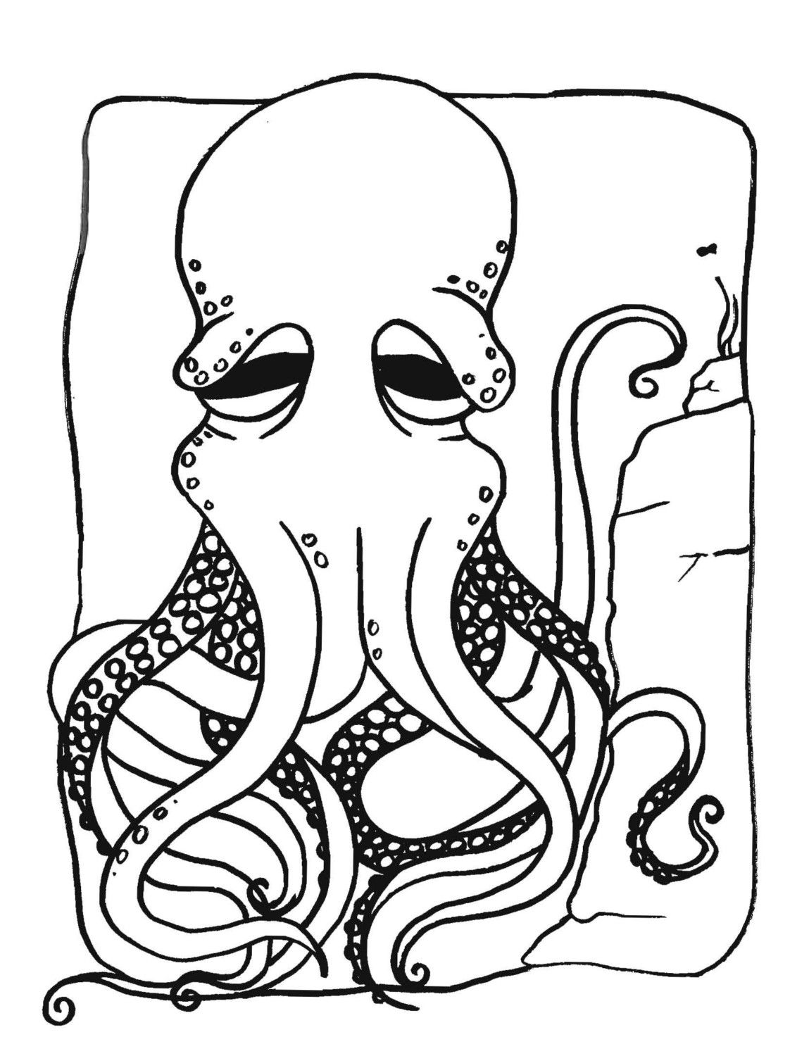 Octopus Coloring Pages and Book | UniqueColoringPages