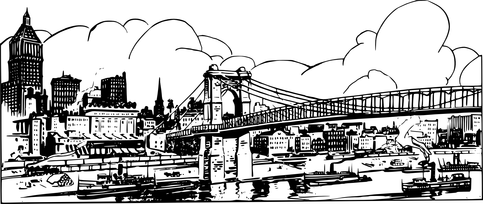 City Skyline Coloring Page