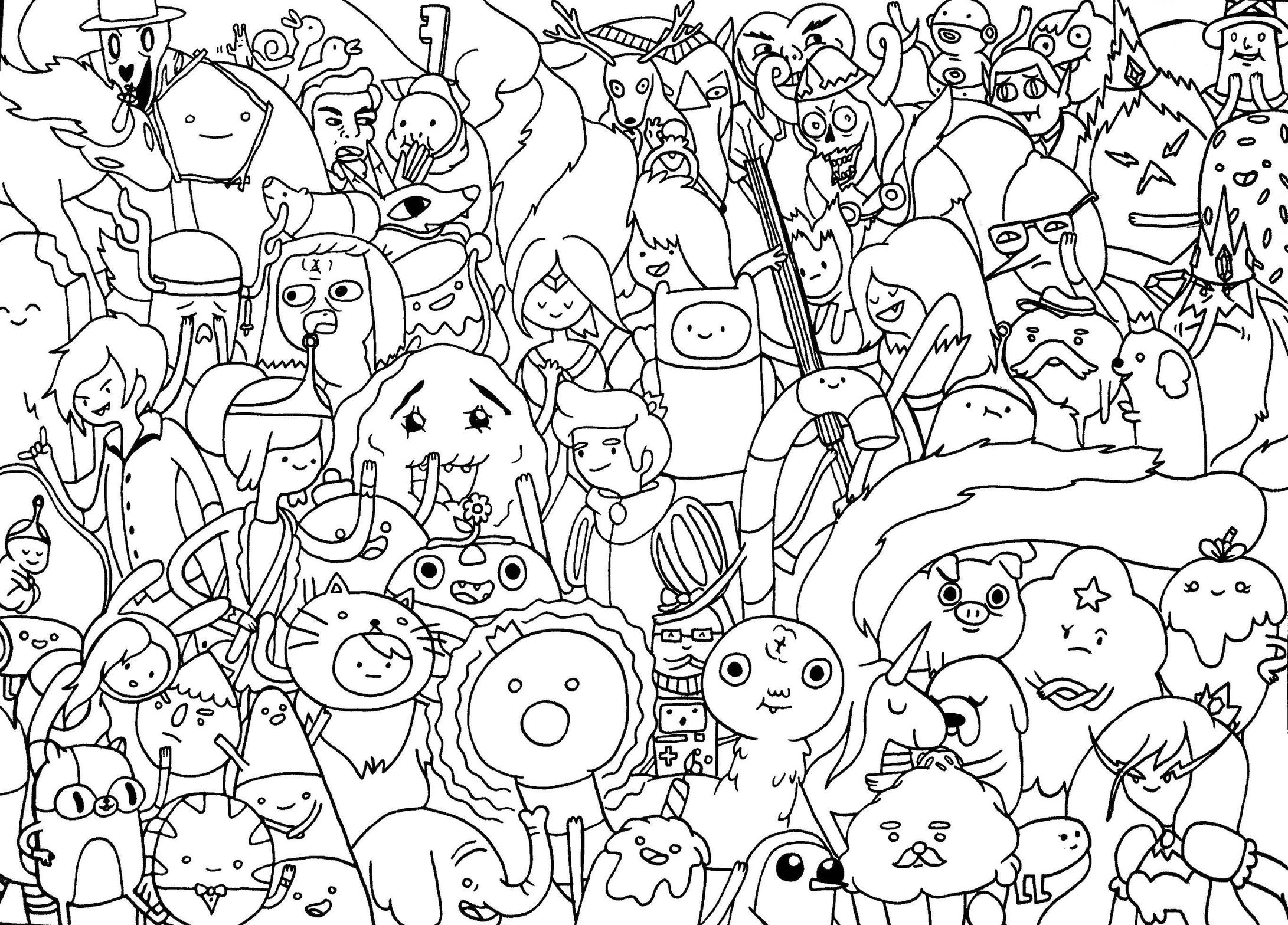 Adventure Time Adventure Time Coloring Pages Coloring Home