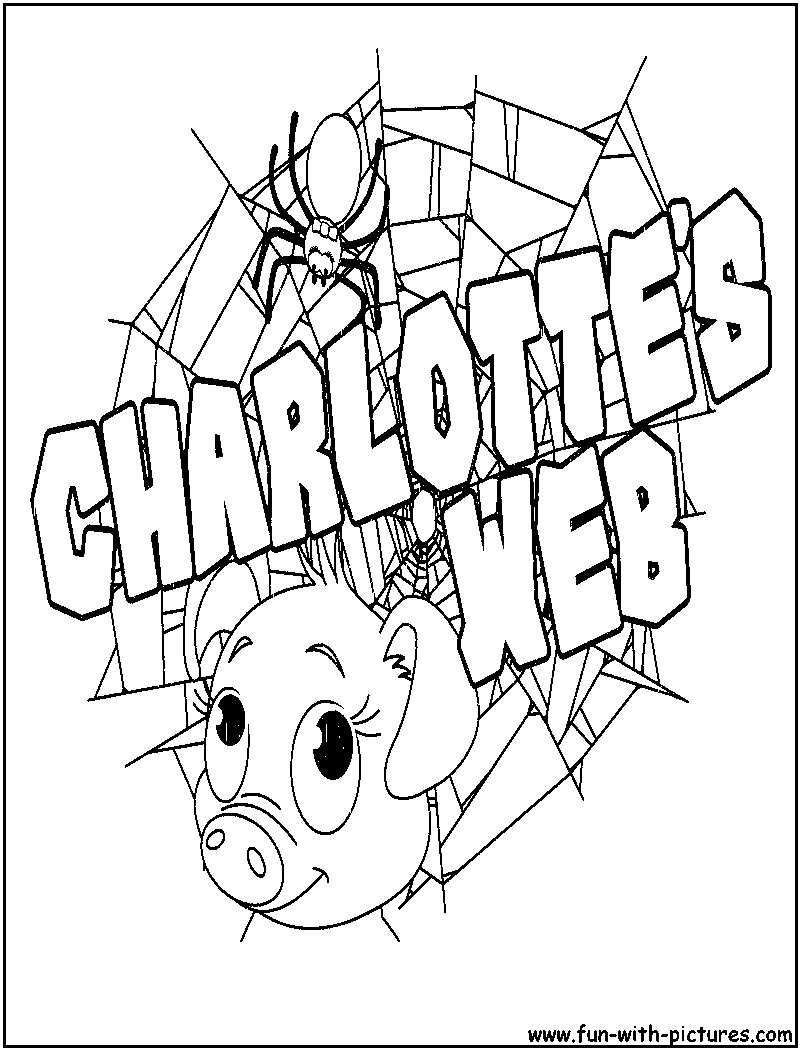 Free Coloring Pages Websites : Free charlotte s web coloring pages az