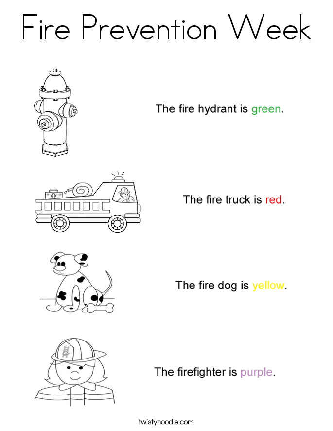 kids fire prevention coloring pages - photo#35