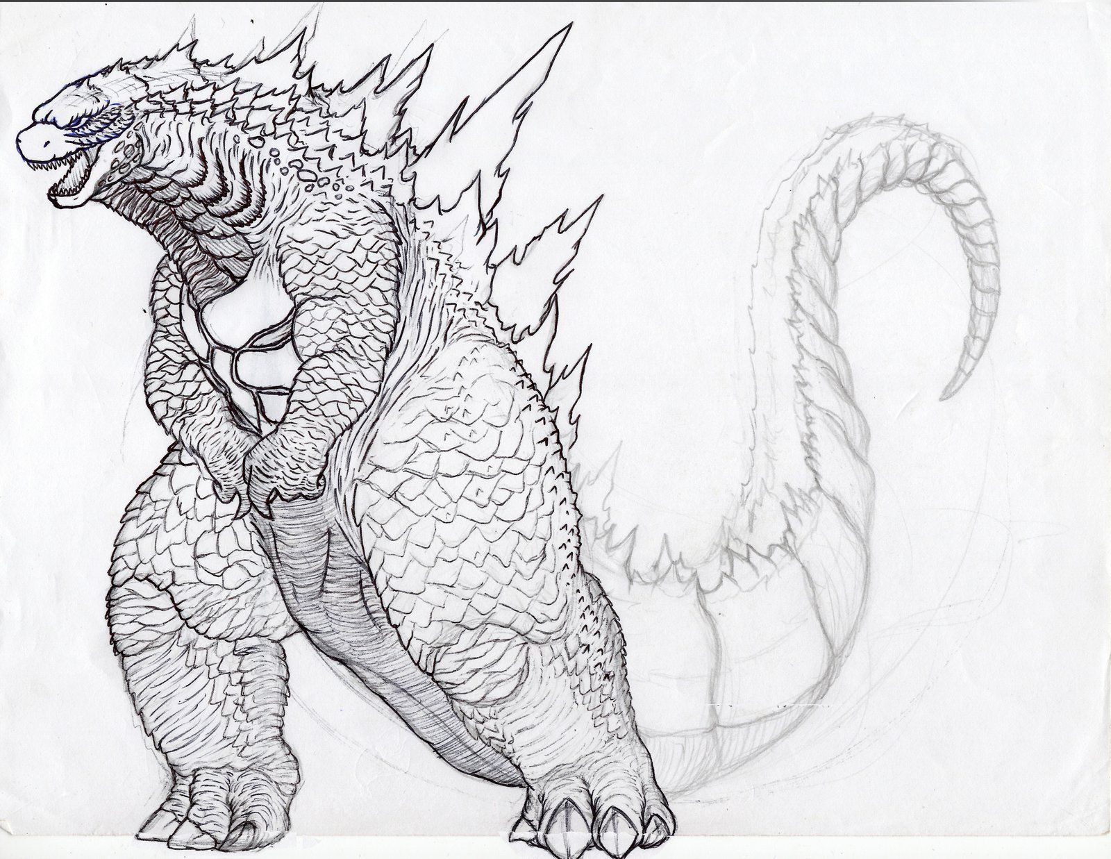 free godzilla 2014 coloring pages - photo#13