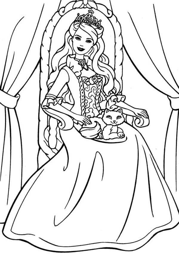 princess cat coloring page az coloring pages