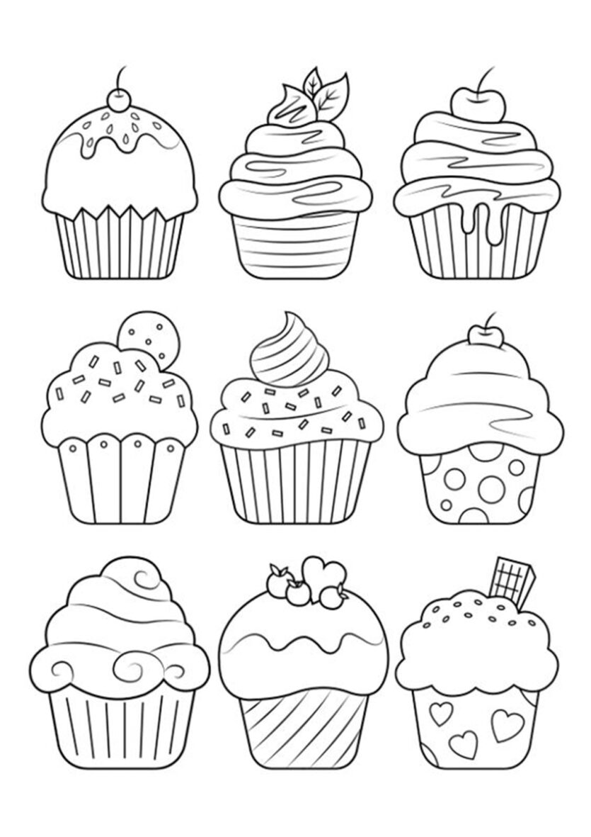 Worksheets : Free Easy To Print Cute Coloring Tulamama Dessert For Adults  Cupcake Small Square Paper Math Kindergarten Activity Sheets General Quiz  Junior High Problems Solver With Steps. Dessert Coloring Pages For
