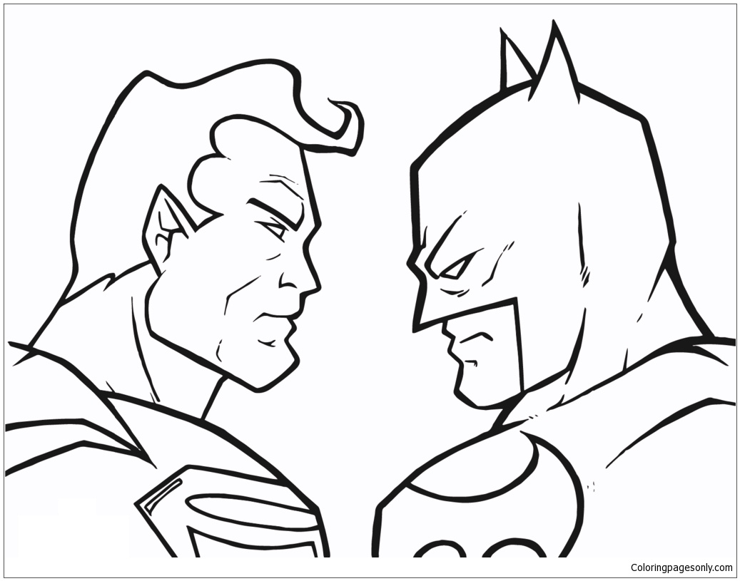 Batman Vs Superman 1 Coloring Page Free Coloring Pages Online Coloring Home