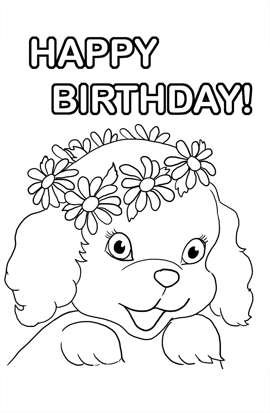Birthday Girl Coloring Pages - Coloring Home