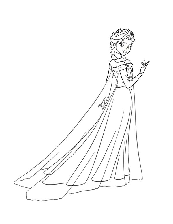 Princess Anna Beautiful Queen Elsa Coloring Pages : Best Place to Color