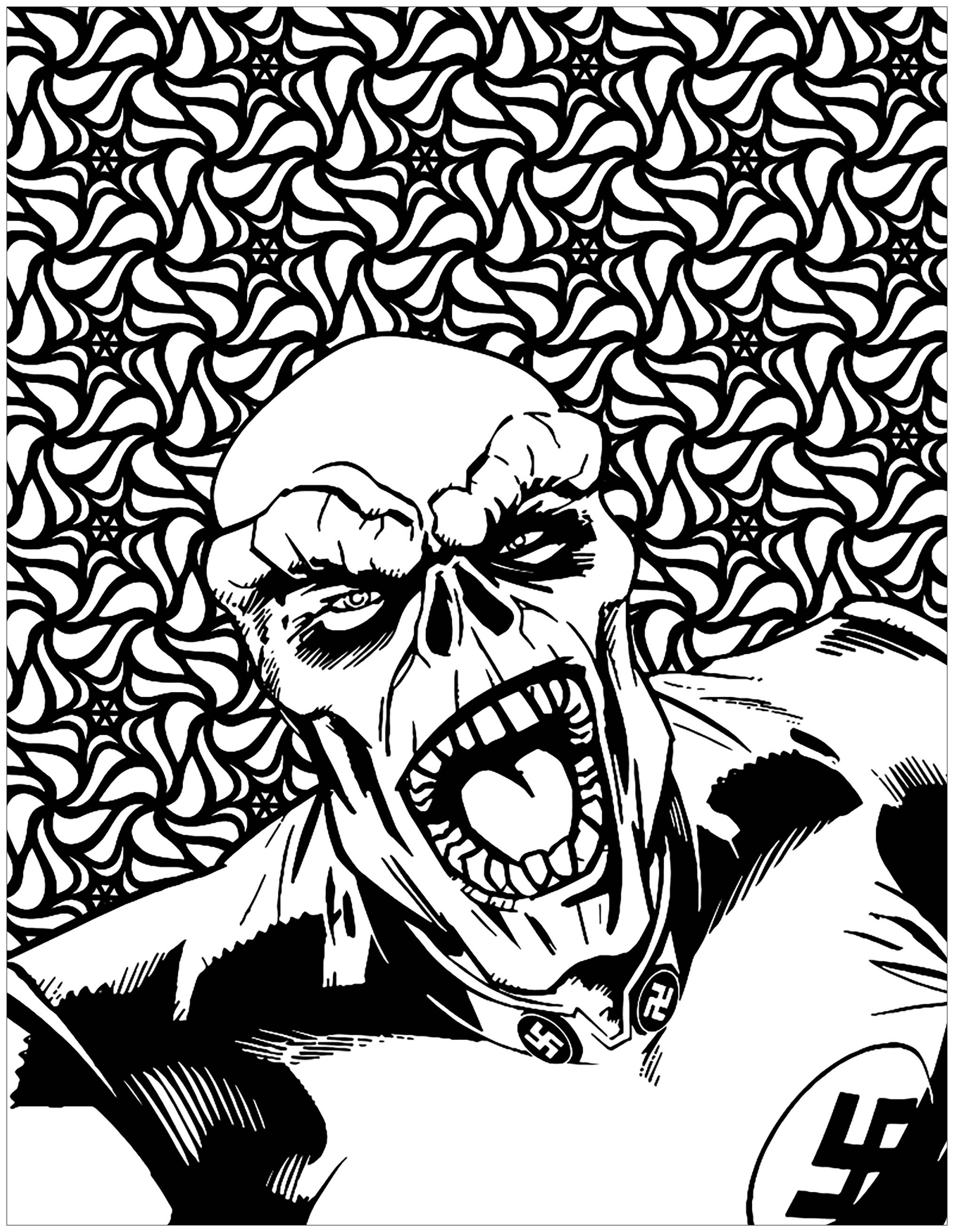 Red Skull Coloring Pages (Page 1) - Line.17QQ.com