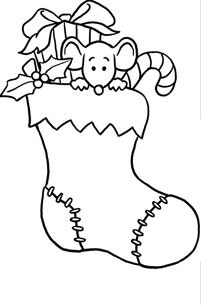 Christmas Stocking Coloring Pages Best Coloring Pages For Kids Coloring Home