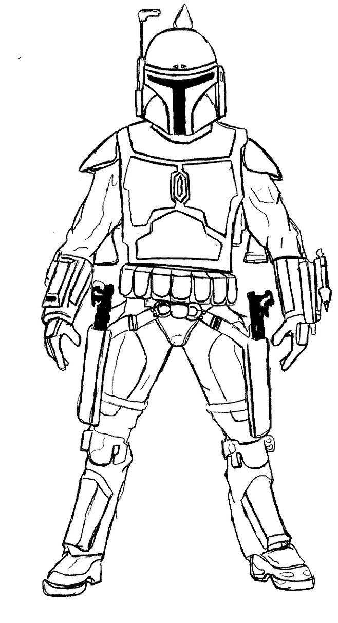 Boba Fett Clone Coloring Pages - Coloring Pages For All Ages