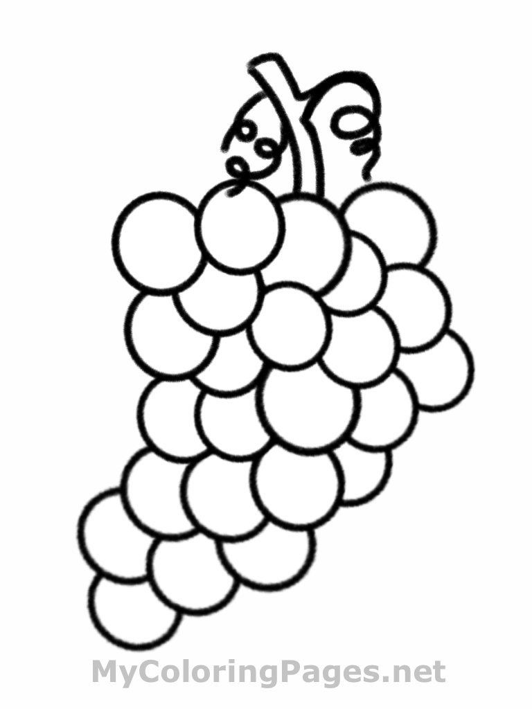 Free Coloring Pages Fruit
