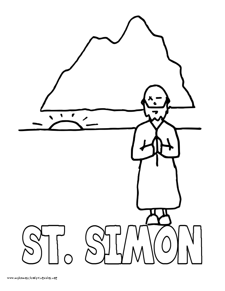 coloring pages of simon - photo#21