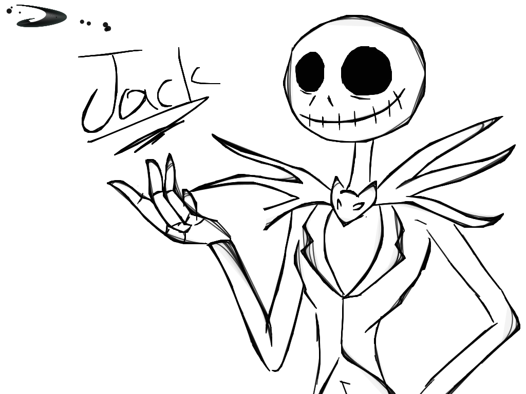 Jack Skellington Coloring Page
