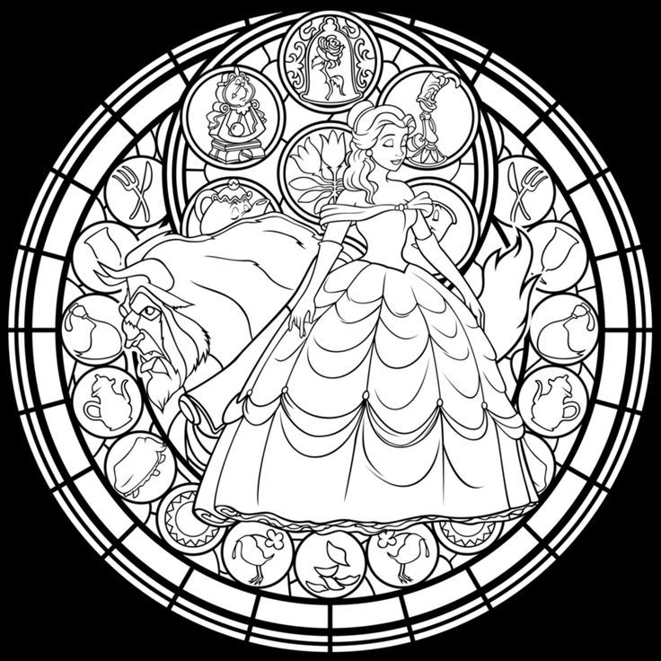renaissance stained glass coloring pages - photo#1