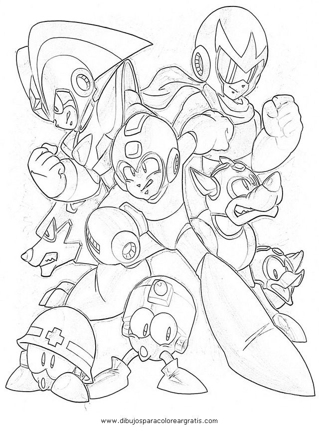 mega man coloring pages free - photo#20