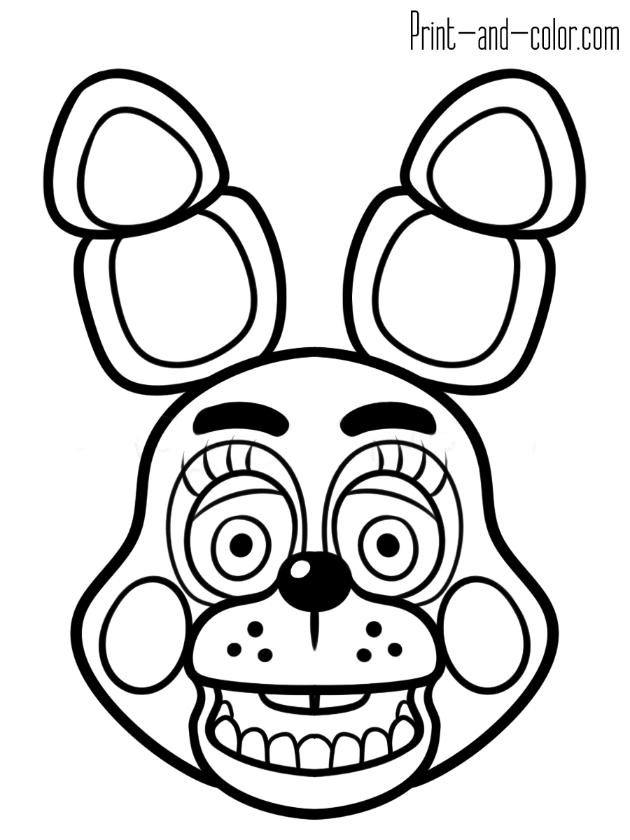 Five nights at freddy's coloring pages | Print and Color.com