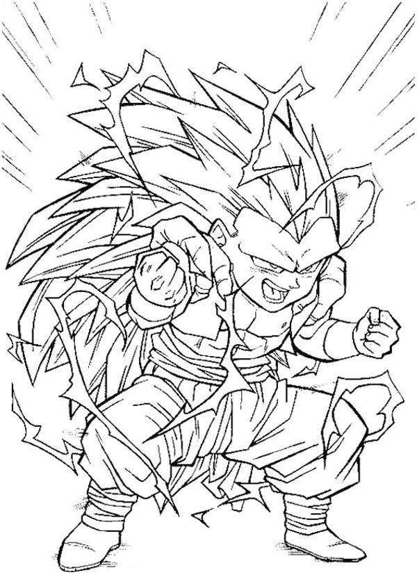 Dragon Ball Z Goku Coloring Pages - GetColoringPages.com ...