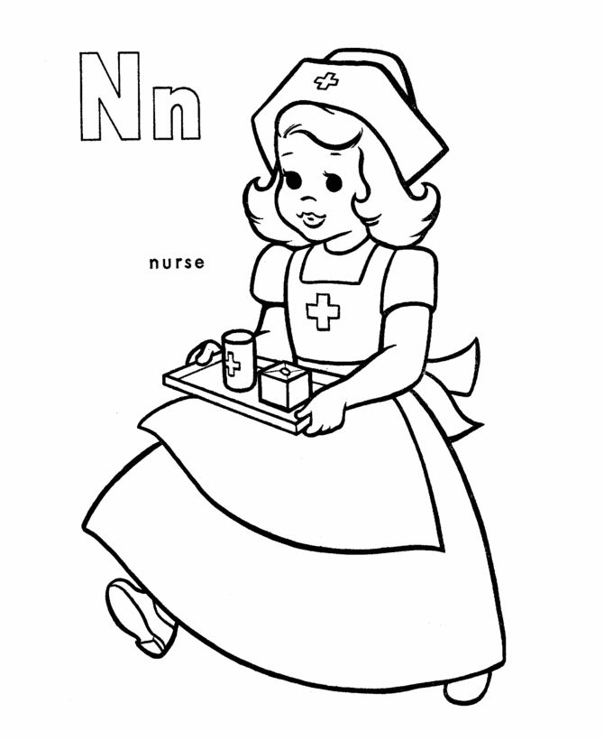 Coloring Page Things That Start With N - Coloring Home