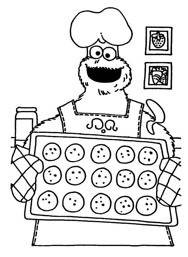 Baking Coloring Pages - Coloring Home