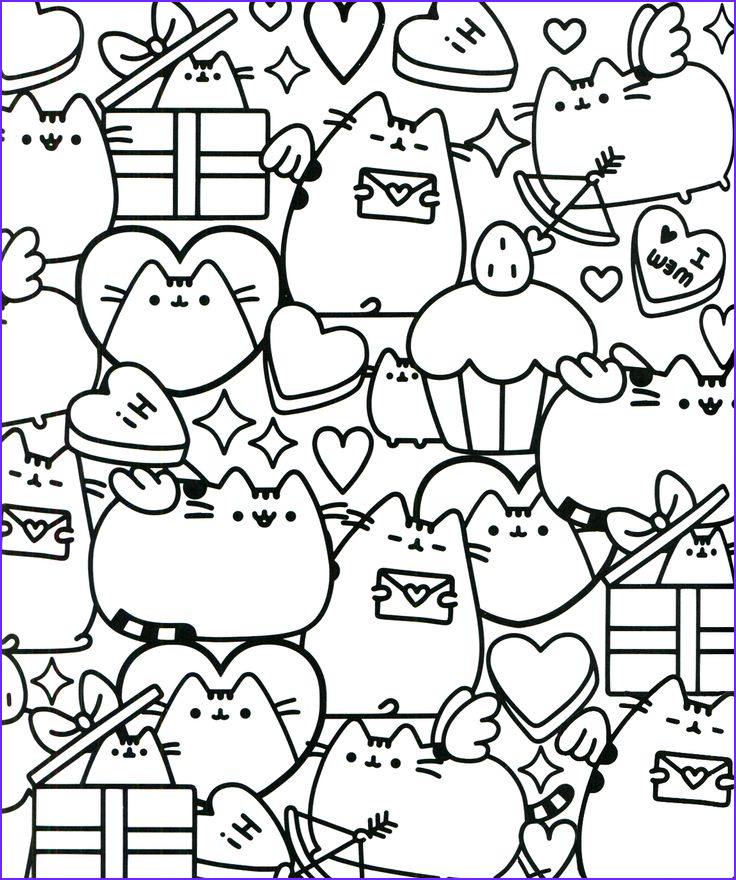 Pusheen the Cat Coloring Pages New Photos Pusheen Coloring ...
