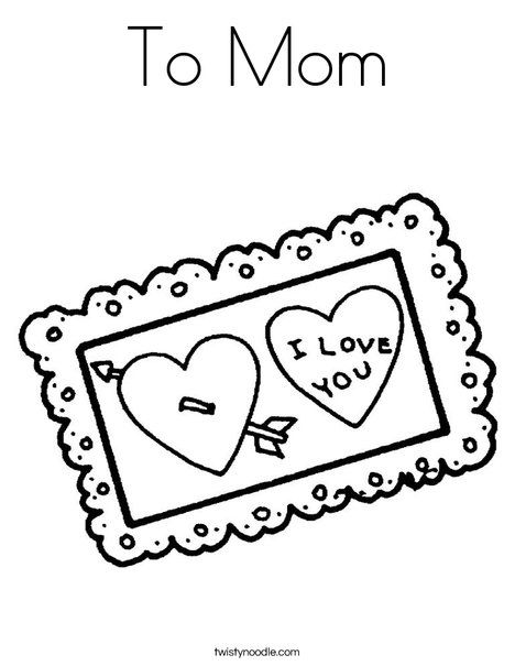 I Love Mommy | Free Coloring Pages on Masivy World