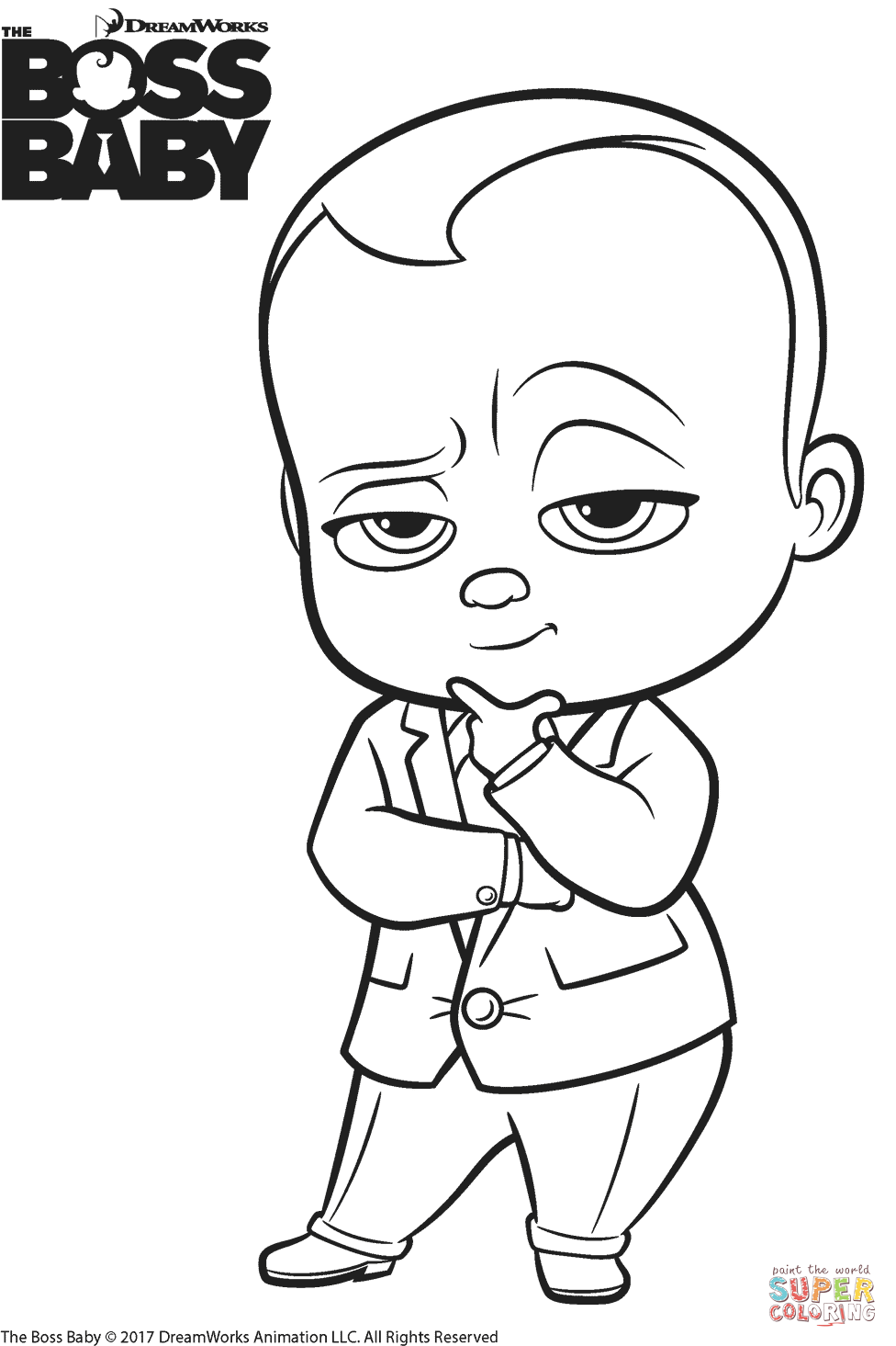 The Boss Baby Templeton coloring page | Free Printable Coloring Pages