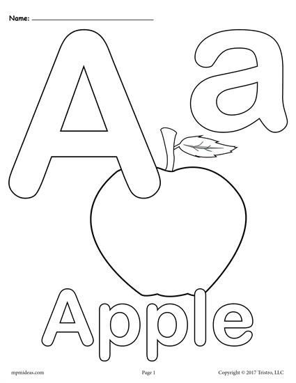 Letter A Alphabet Coloring Pages - 3 FREE Printable Versions ...