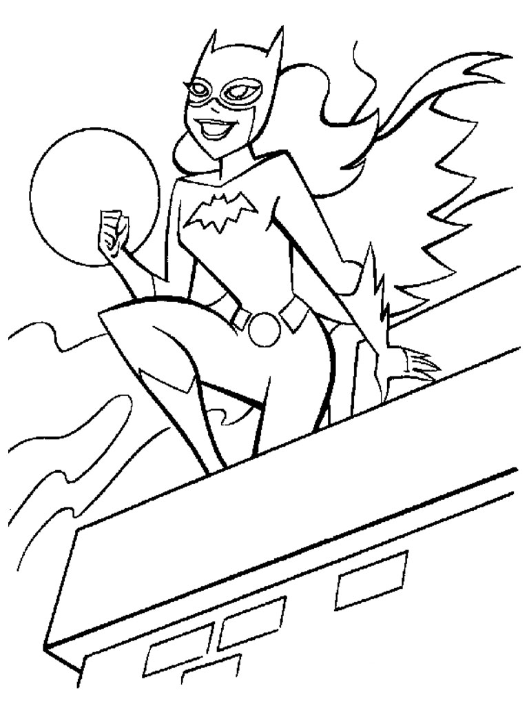 Batgirl And Supergirl Coloring Pages Unique Batgirl Coloring Pages ...