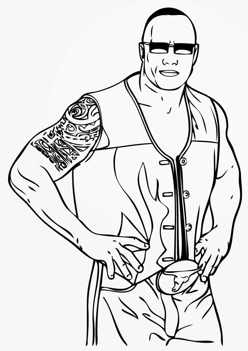 Wrestling Coloring Pages Online Books Wrestler The ...