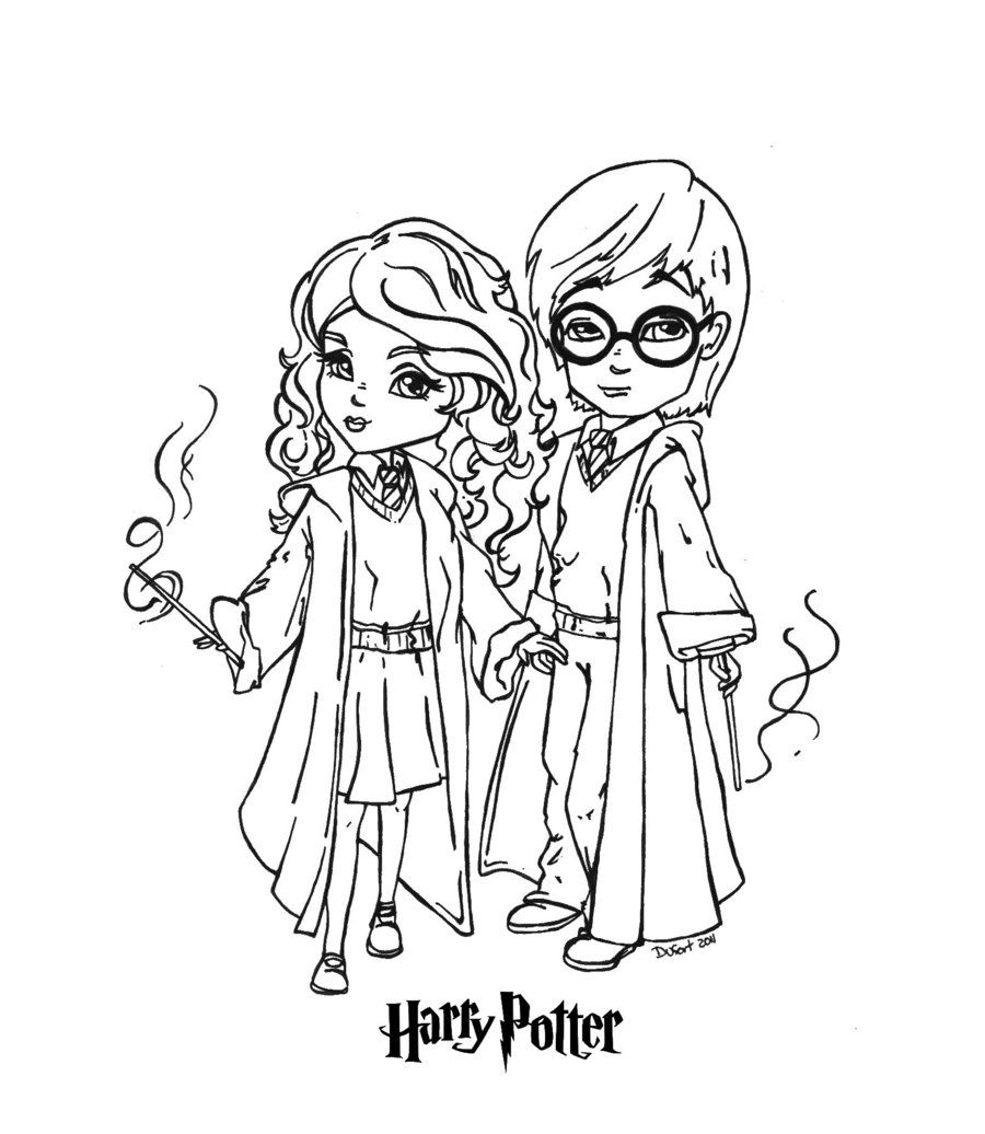 Ginny Weasly  Free Coloring Pages