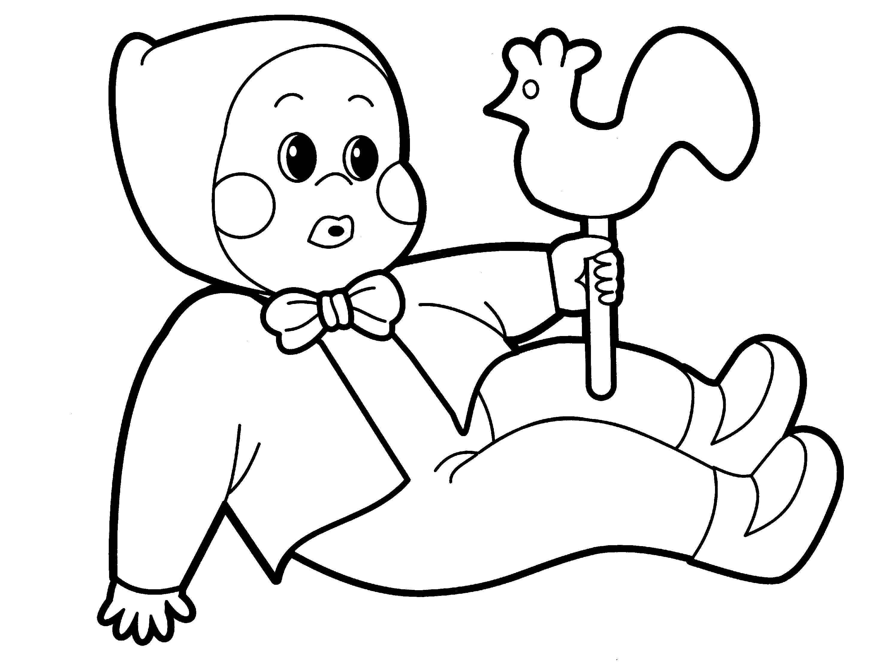 coloring pages cartoon baby doll az coloring pages