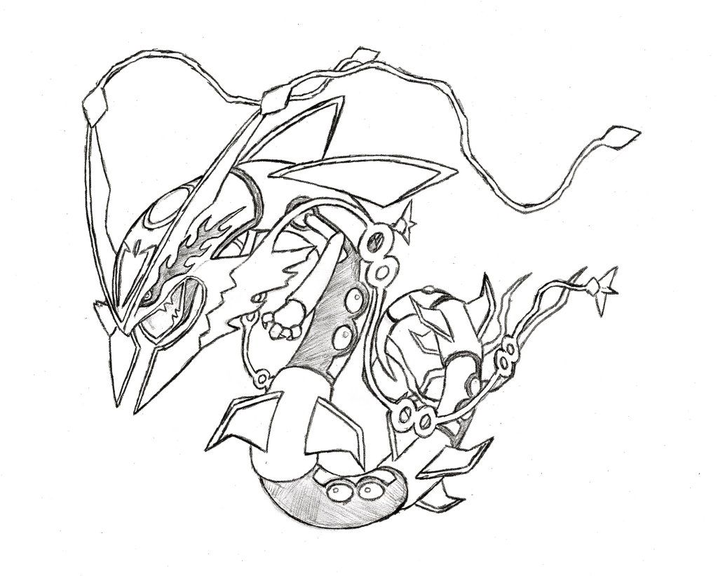 Pokemon coloring pages mega rayquaza - Rayquaza Coloring Pages Coloring 15 Pics Of Pokemon Mega