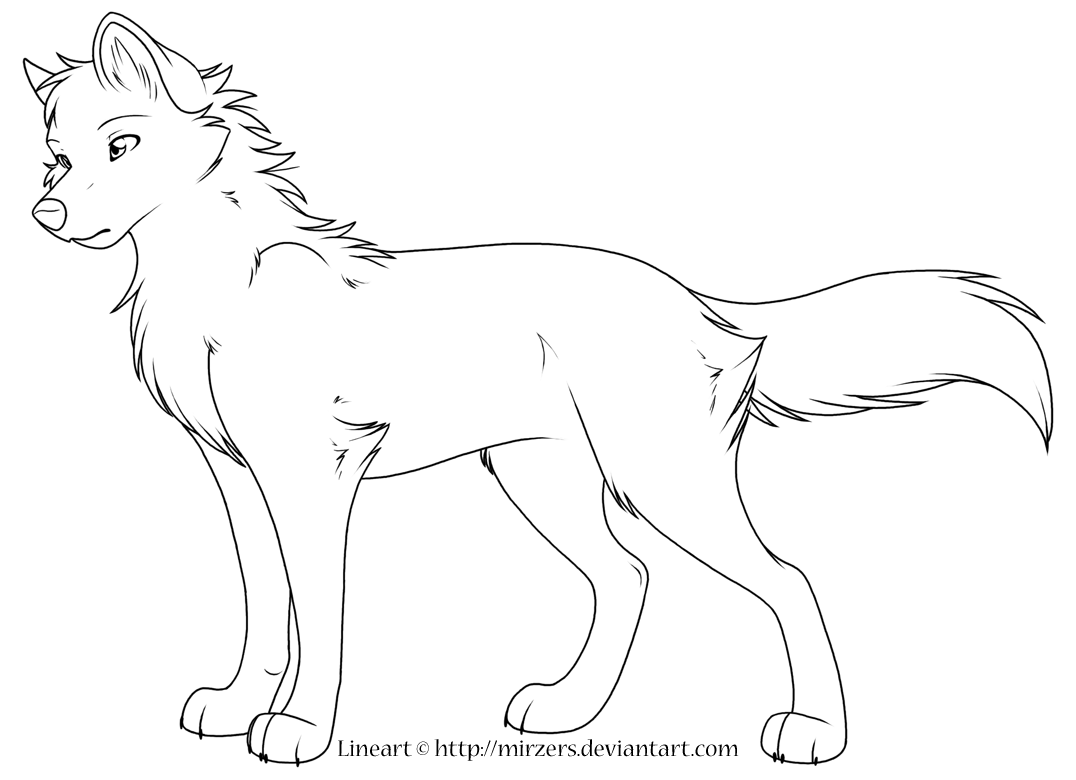 Realistic Wolf Coloring Pages To