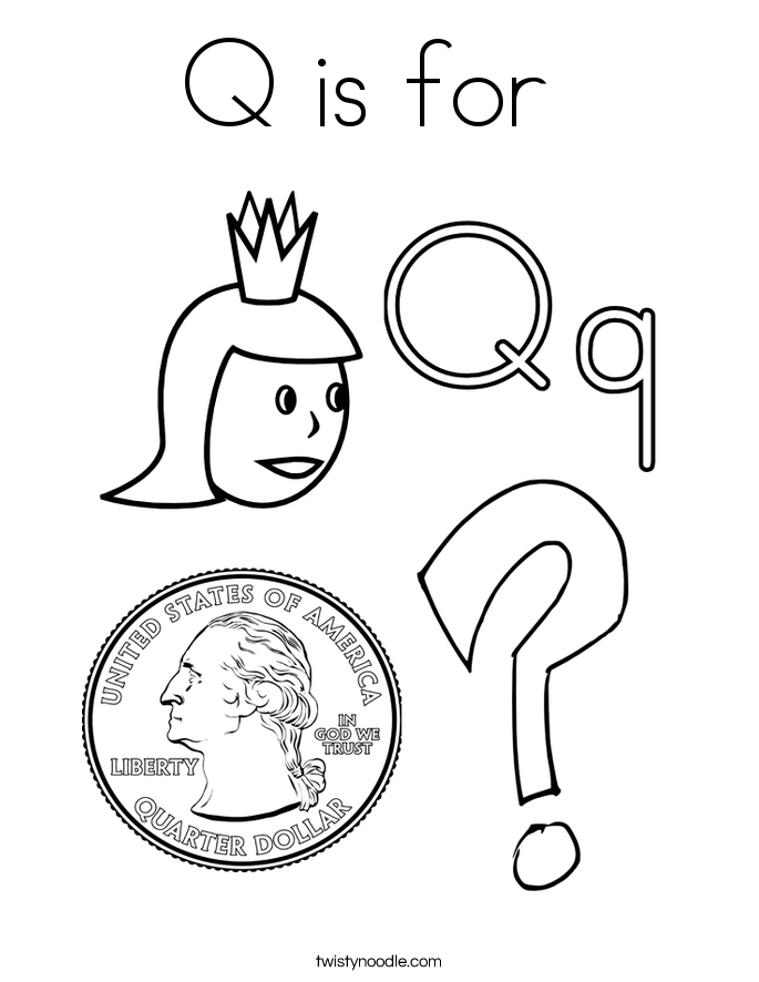 Q Is For Quiet Coloring Pages Letter ...