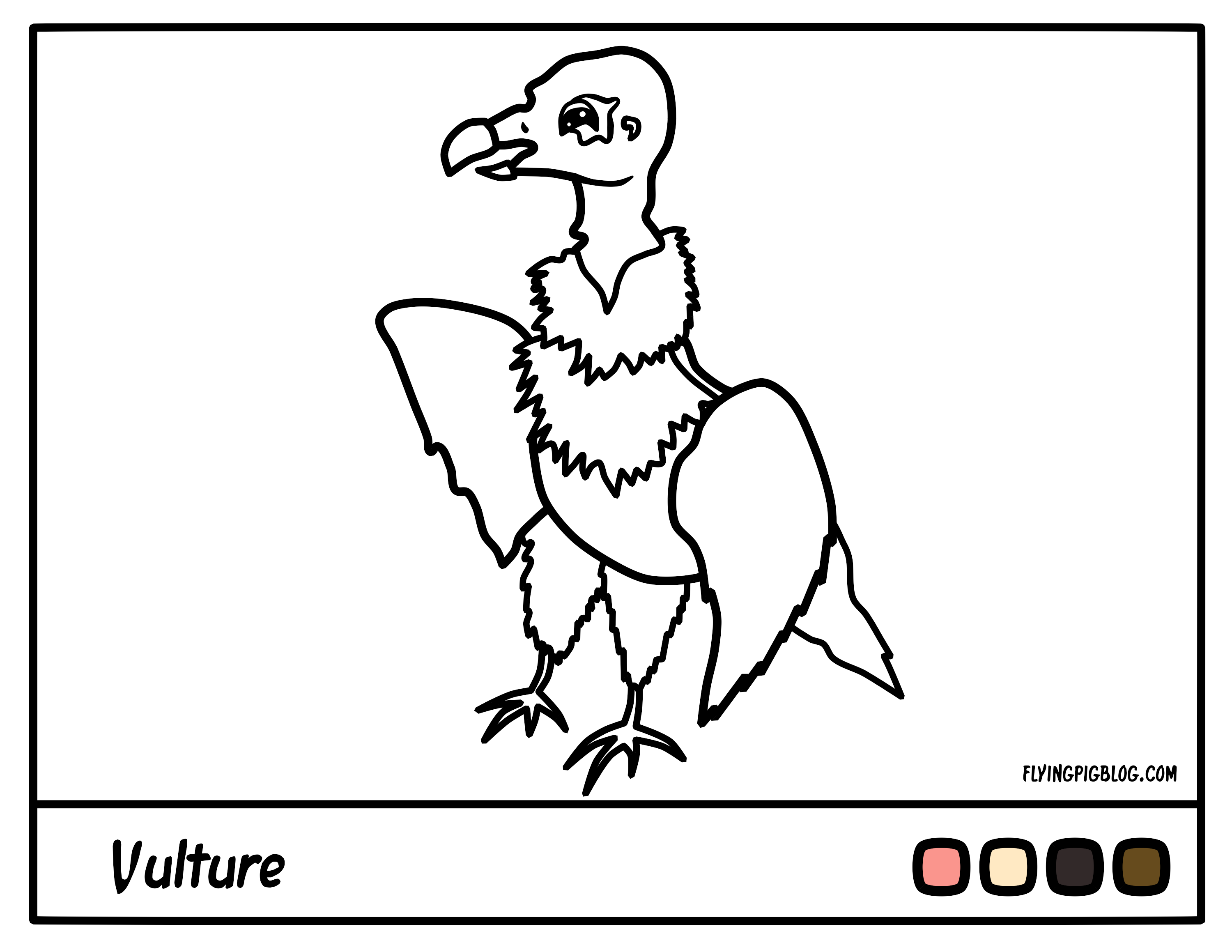 Coloring Pages | Flying Pig