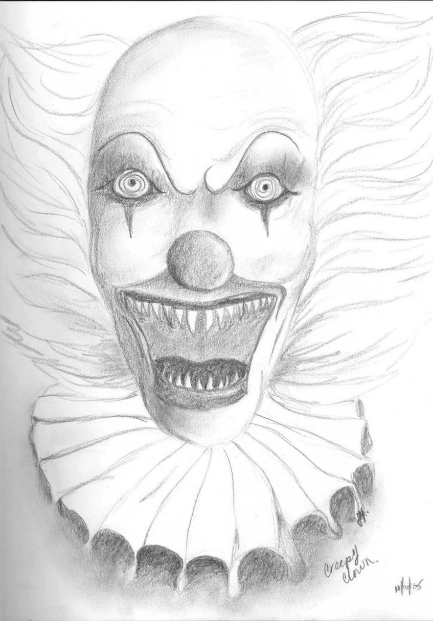 Creepy Clown Coloring Pages - High Quality Coloring Pages