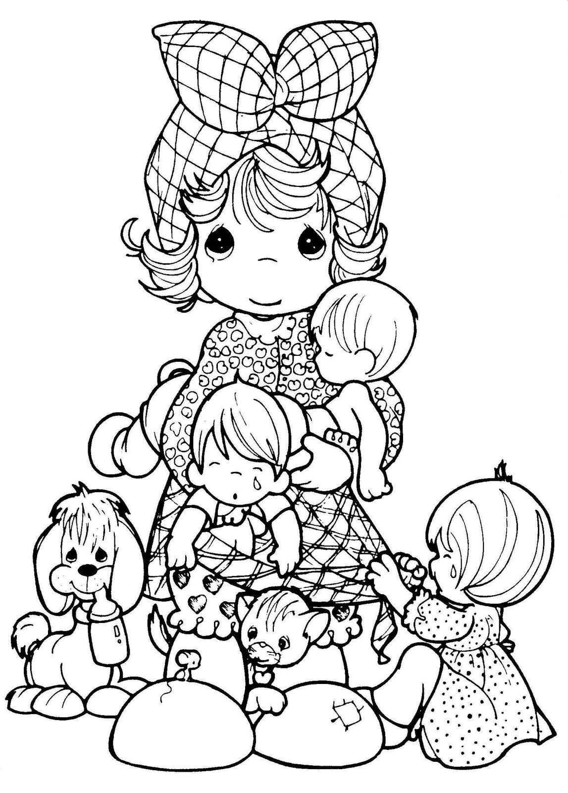 Precious Moments Coloring Pages Online Free