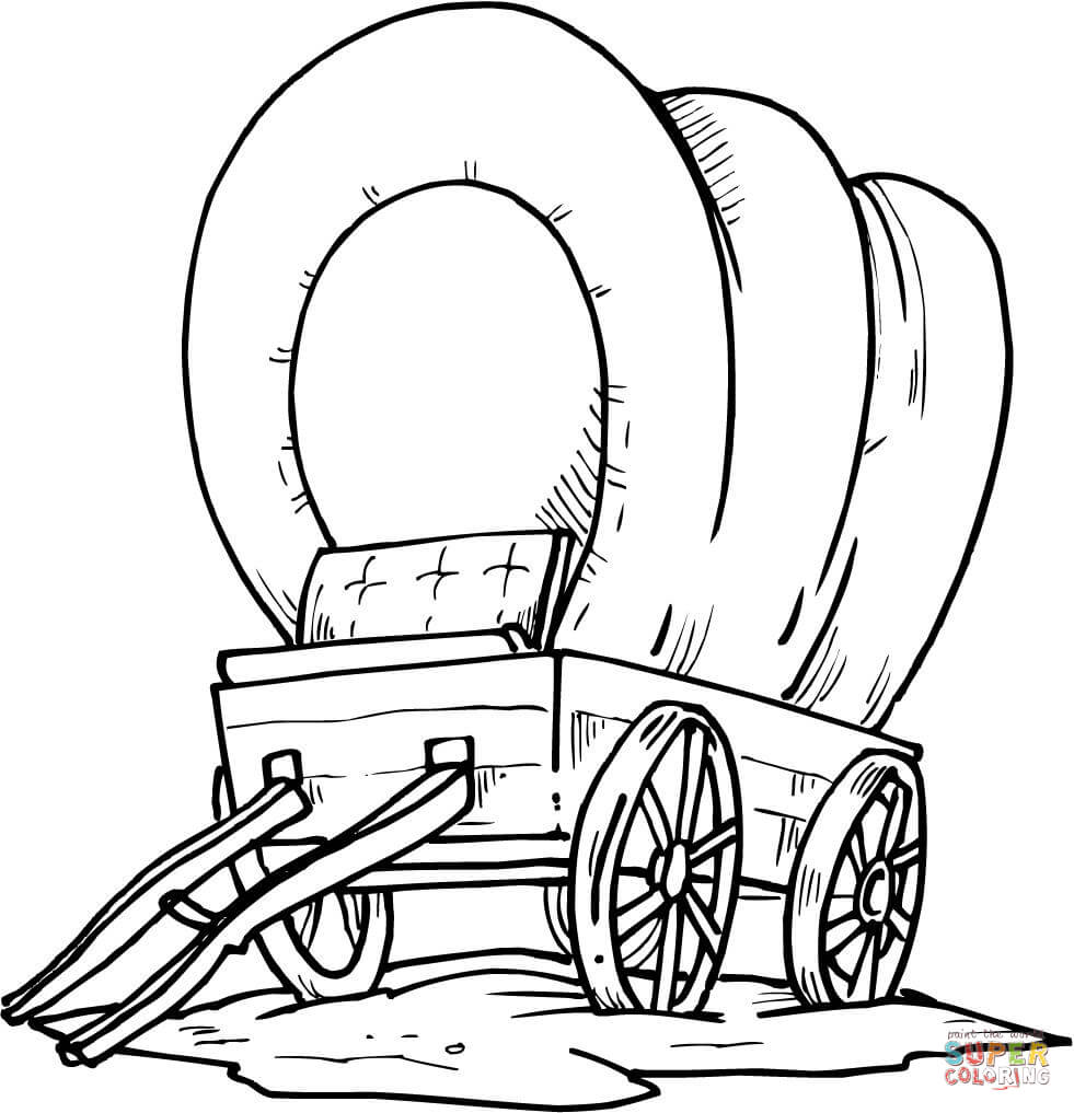 Uncategorized Wagon Coloring Pages wood covered wagon coloring page home page