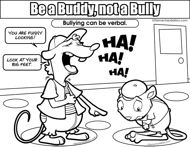 anti bullying coloring pages coloring home