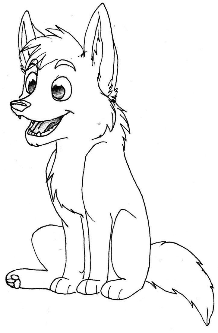 Baby Wolves Coloring Pages - Coloring Home
