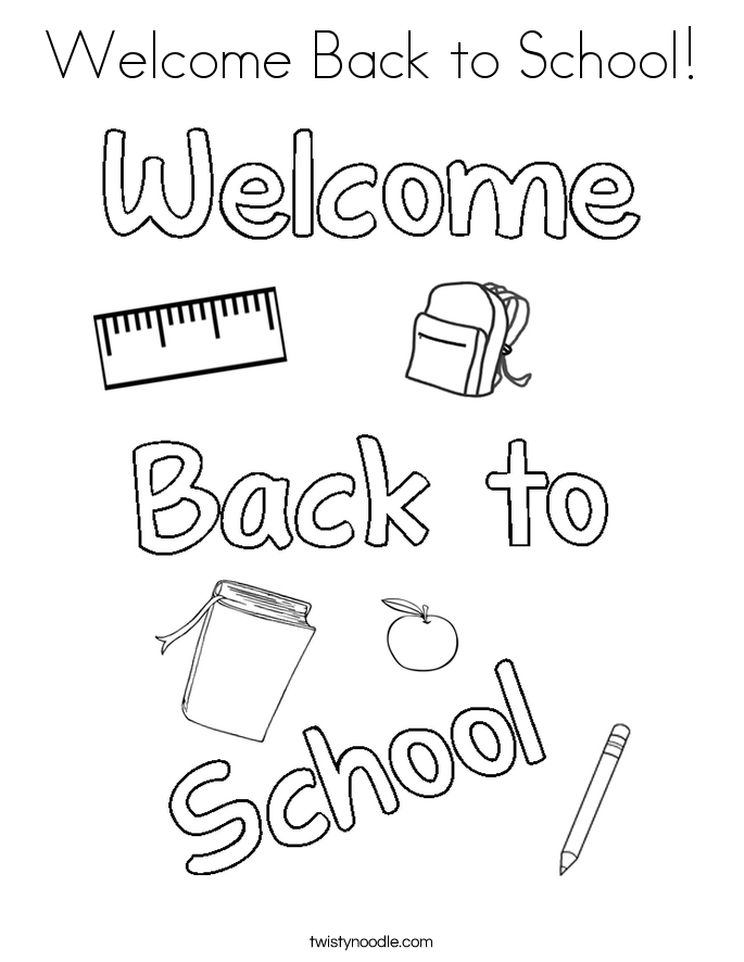 Welcome Back To School Coloring Page Coloring Home