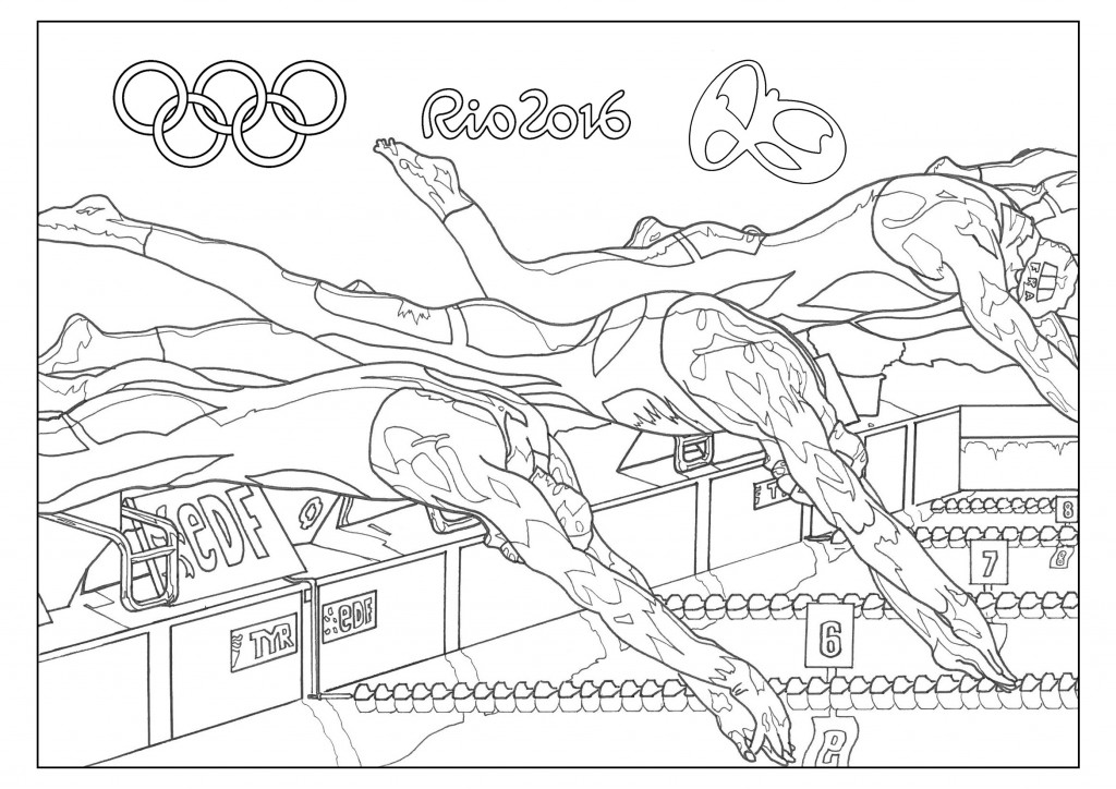 olympic swimming coloring pages - swimming rio 2016 olympics coloring page coloring home