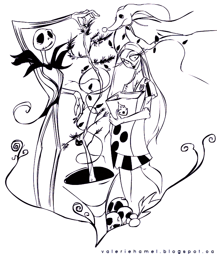 corpse bride coloring page