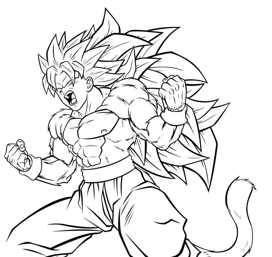 Dragon Ball Z Super Saiyan Coloring Pages - AZ Coloring Pages